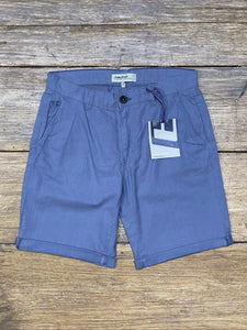 Woven Linen Blend Shorts Coral Blue