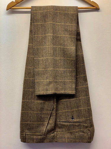 Cavani Albert Brown Tweed Trousers