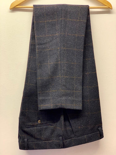 Cavani Kemson Navy Tweed Trousers