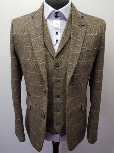 Cavani Albert Brown Tweed Jacket