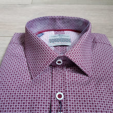 Dario Beltran Red Diamond Microprint Shirt