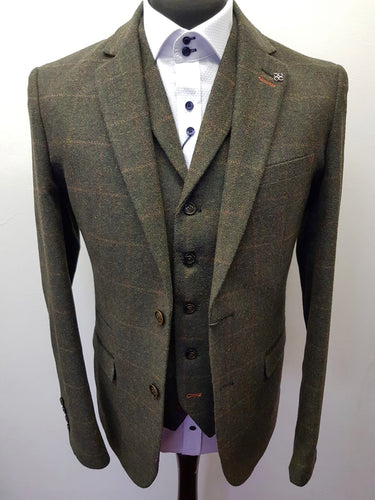 Cavani Kemson Olive Tweed Jacket