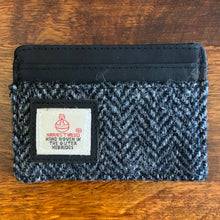 Harris Tweed Grey Herringbone Credit Card Holder