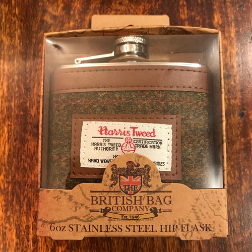 Harris Tweed Stornoway Hip Flask