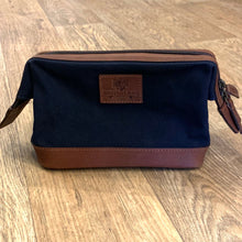 Navigator Navy Waxed Canvas Wash Bag