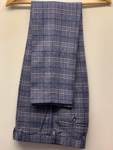 Robert Simon Marcello Blue Tweed Trousers