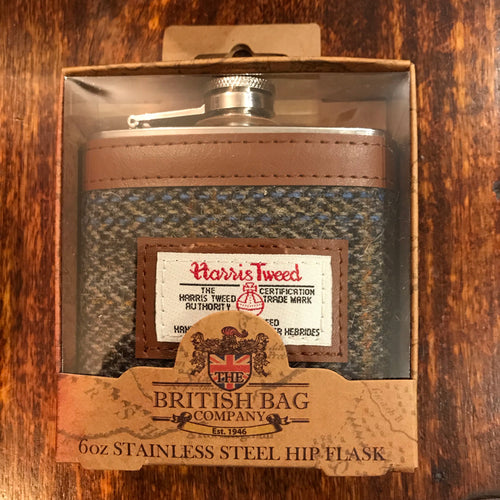 Harris Tweed Carloway Hip Flask