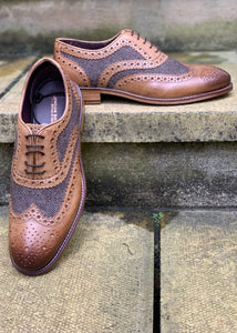 London Brogues Gatsby Tan/Brown Tweed
