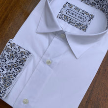 SUAVE OWL White Shirt Navy/Tan Contrast