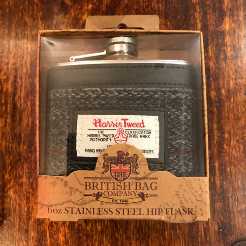 Harris Tweed Berneray Hip Flask