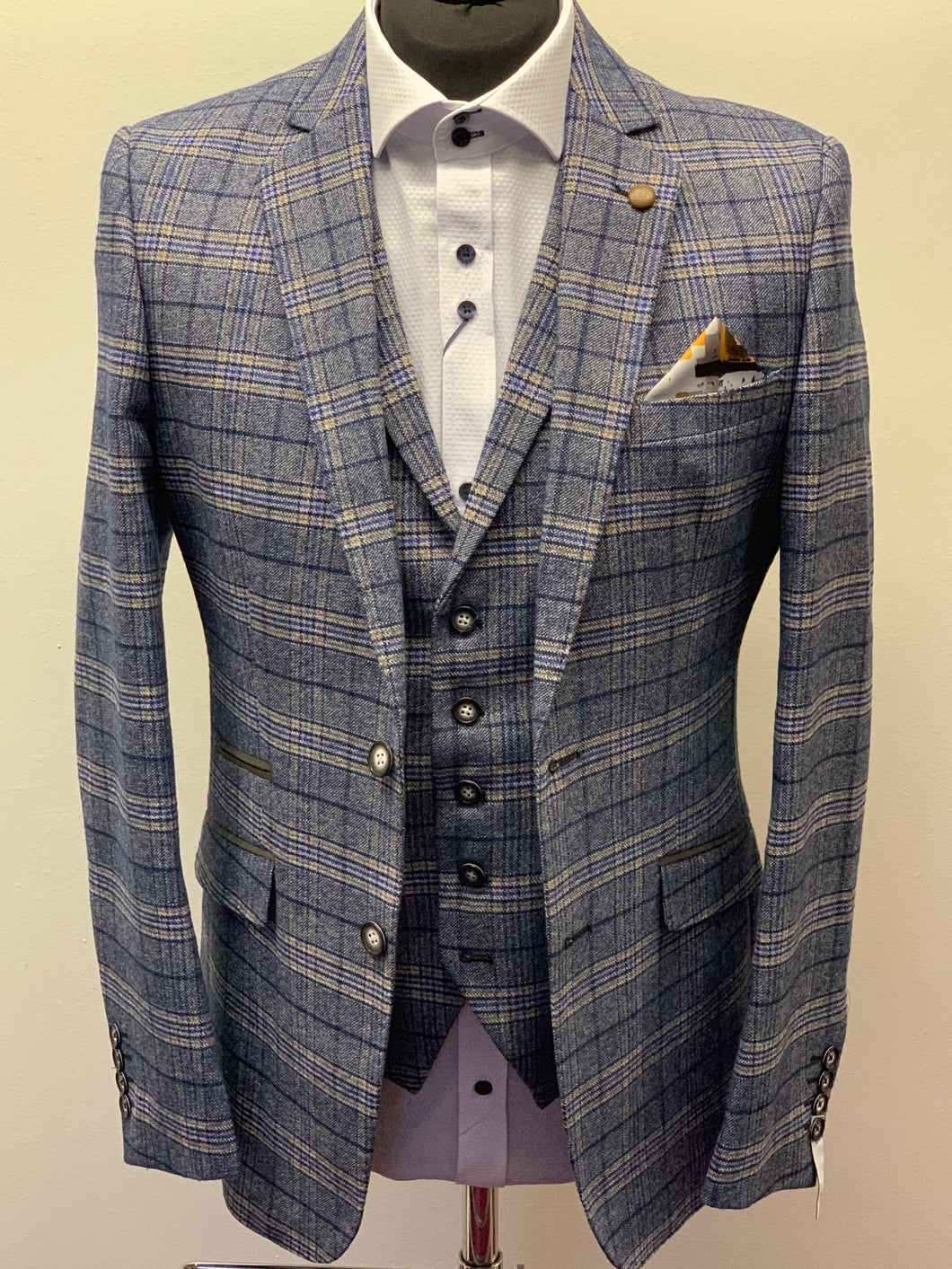 Robert Simon Marcello Blue Tweed Jacket