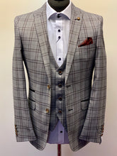 Robert Simon Grey Windowpane Check Jacket