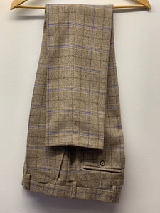 Robert Simon Marcello Beige Tweed Trousers