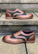 London Brogues Gatsby Tan/Green Tweed