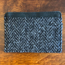 Load image into Gallery viewer, Harris Tweed Grey Herringbone Credit Card Holder