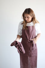 Apron / Smokey burgundy