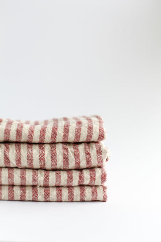 Tea towel / Red stripes