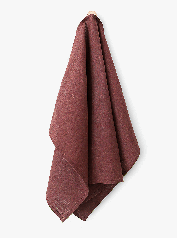 Tea towel / Smokey burgundy