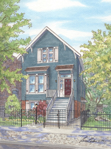 Restored Victorian on Greenview Ave, Lakeview, Chicago