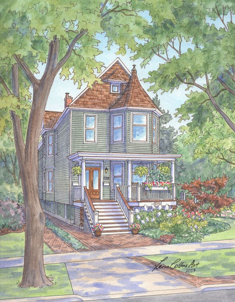Gorgeous Victorian subject for a home portrait on N. Tripp Ave, Portage Park, Chicago IL