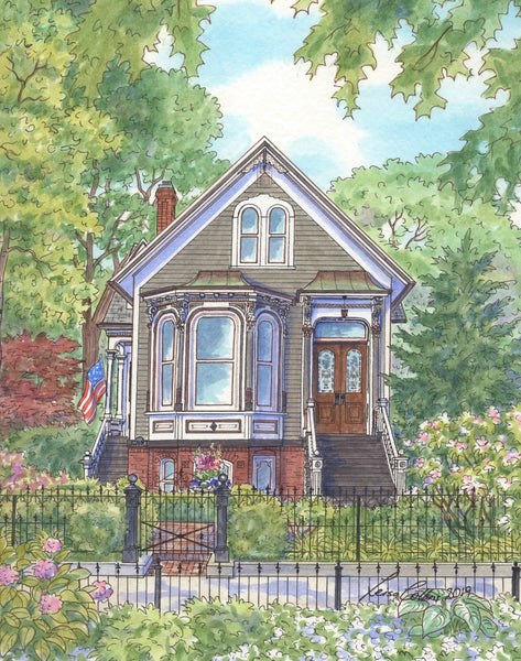 Victorian cottage in Chicago IL which is well over 100 years old and survived major Chicago fires and other calamities.