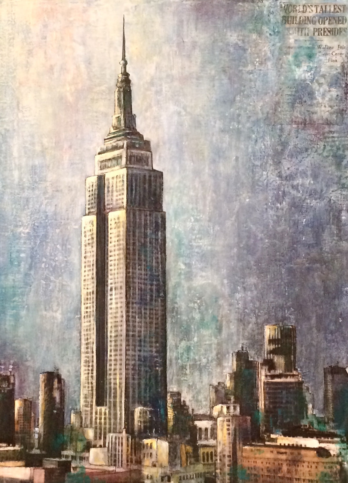 leisa-collins-art-shop - Empire State Building, NYC - Mixed media