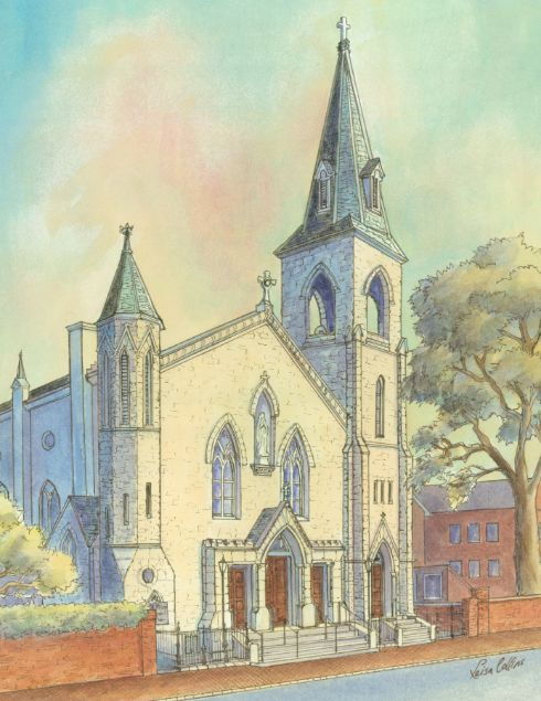 leisa-collins-art-shop - Saint Mary's Church, Alexandria VA - Print