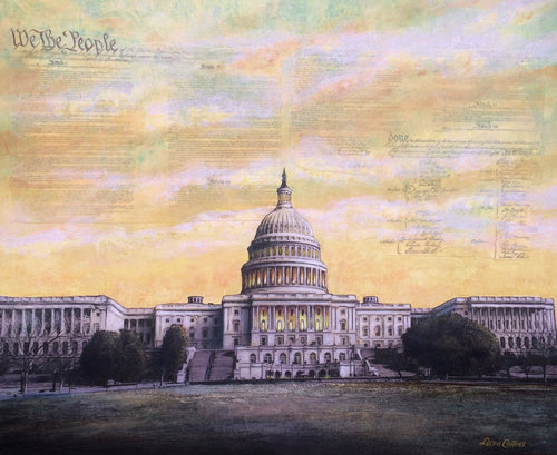 leisa-collins-art-shop - We the People, US Capitol Building - Mixed media