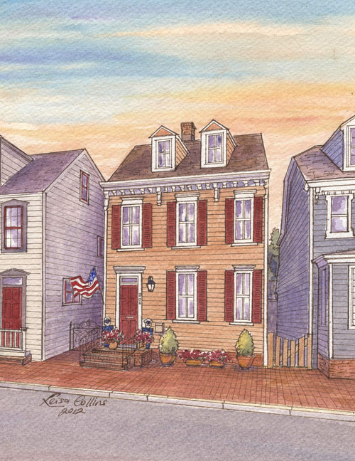 leisa-collins-art-shop - Annapolis MD Old Town - Pen and watercolor