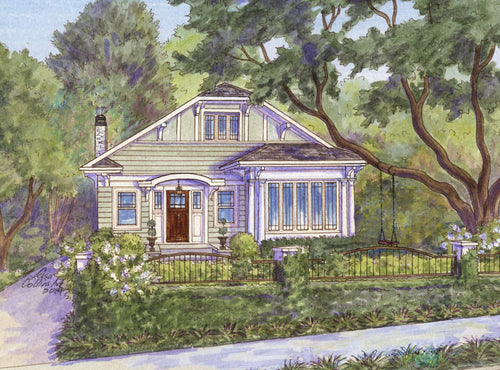 leisa-collins-art-shop - Atlanta GA Home with Swing - Pen and watercolor