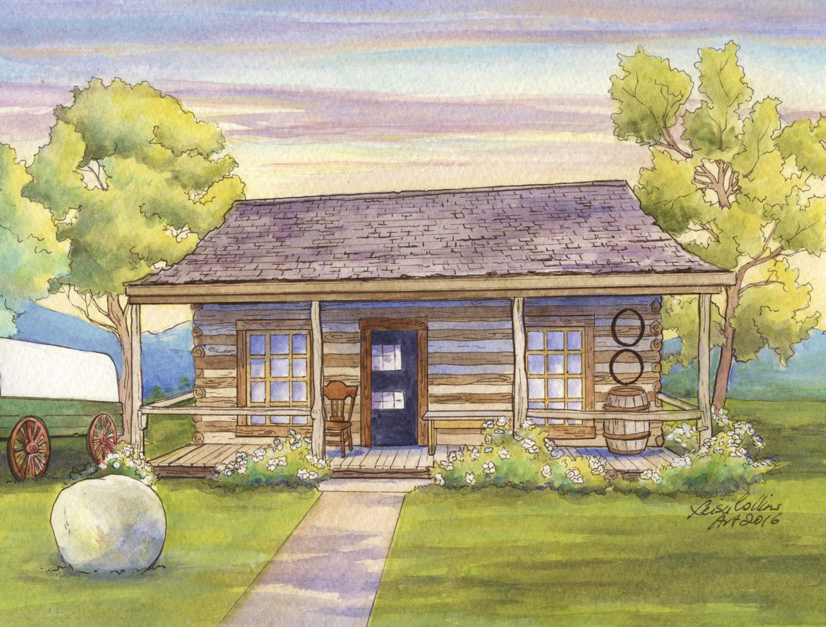 leisa-collins-art-shop - Fargo ND First Home in State - Pen and watercolor