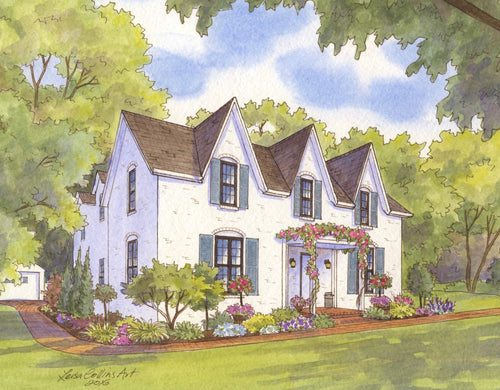 leisa-collins-art-shop - Kansas City MO Heritage Home - Pen and watercolor