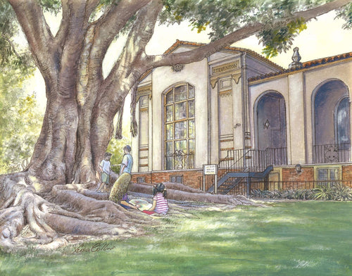leisa-collins-art-shop - South Pasadena CA Library - Pen and watercolor