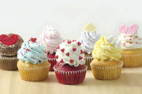 Group of Cupcakes With Frosting