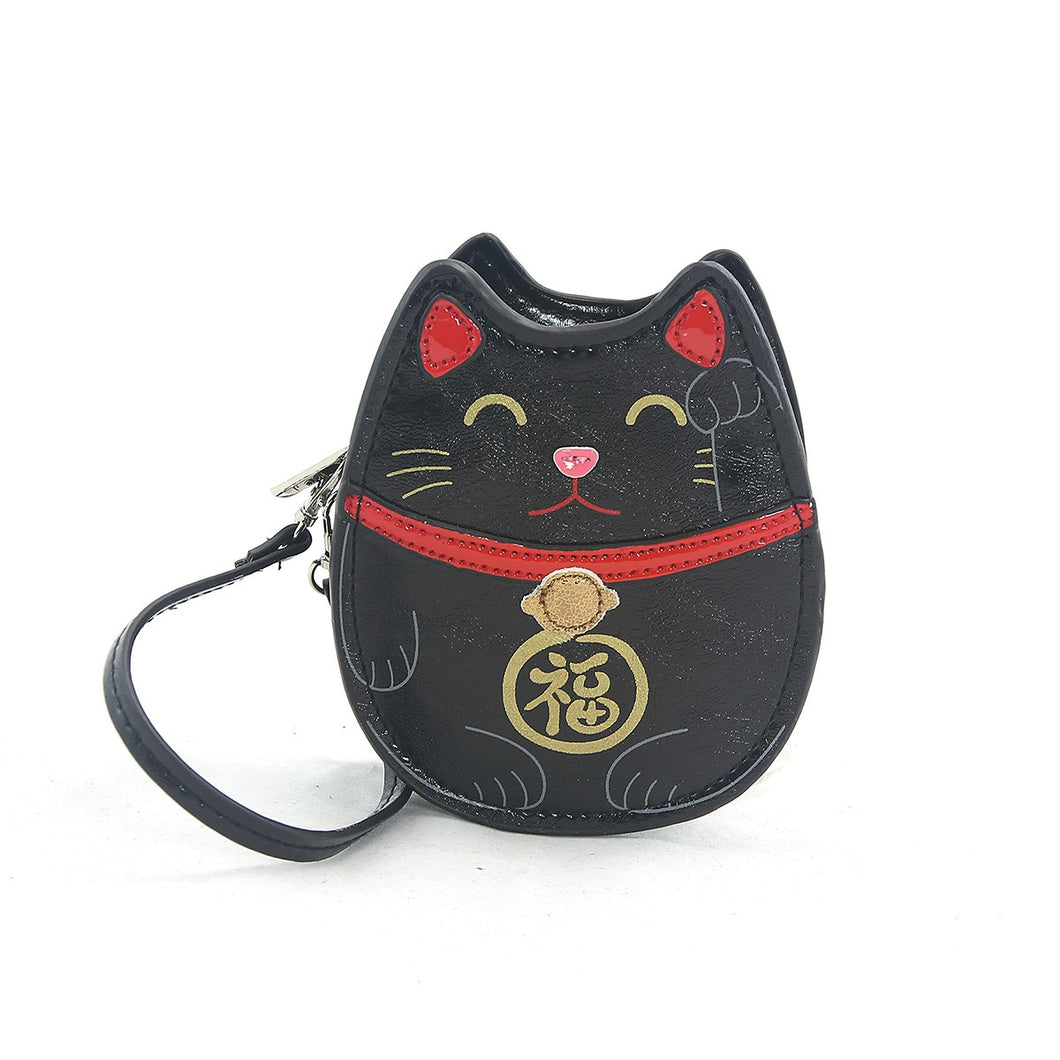 Sleepyville Critters-Lucky Cat Zippered Coin Purse