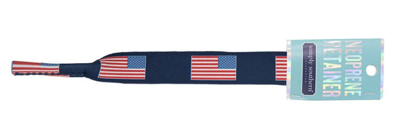 Simply Southern Sunglasses Strap - Flag