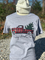 Red Truck Plaid Christmas Tree Short Sleeve,  Long Sleeve or Sweatshirt