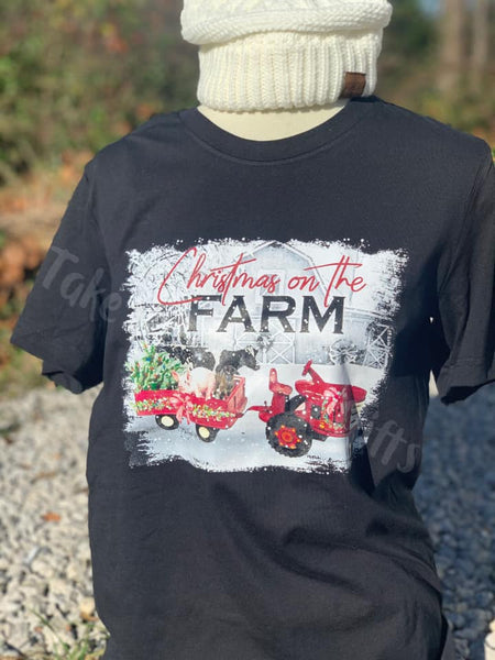 Christmas on the Farm Short Sleeve,  Long Sleeve or Sweatshirt
