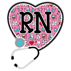 Happy Health RN Acrylic Interchangeable Button
