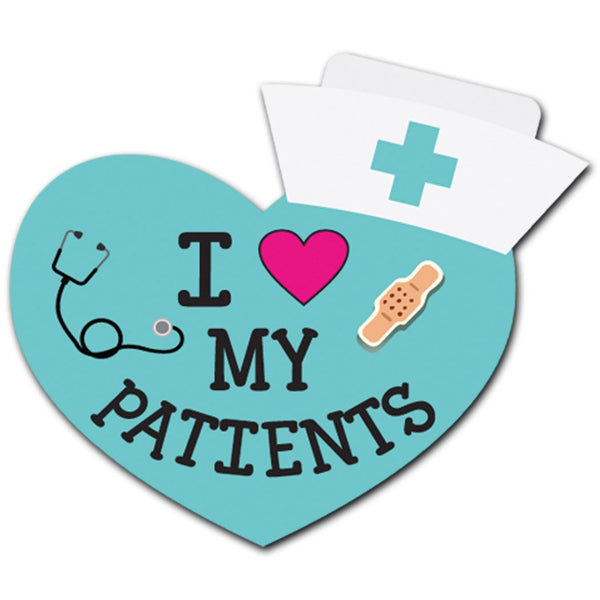 I Love My Patients Acrylic Interchangeable Button