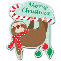 Merry Christmas Sloth Acrylic Interchangeable Button