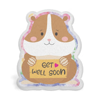 Get Well Soon Hamster Acrylic Interchangeable Button