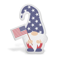 Fourth Of July Flag Gnome Acrylic Interchangeable Button