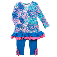 Simply Southern® Toddler Abstract Pattern Ruffle Set