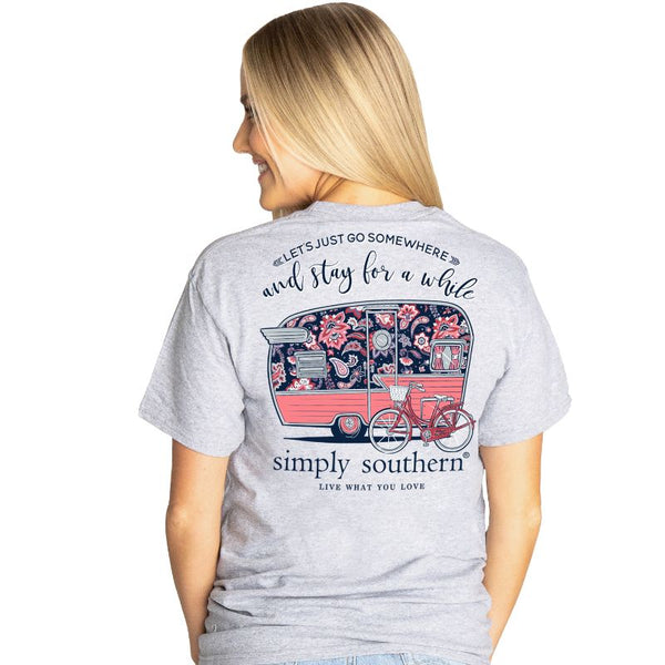 Simply Southern® Short Sleeve Let's Just Go Somewhere and Stay for a While Camper
