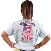 Simply Southern® Short Sleeve - God Bless the USA Pig- YOUTH