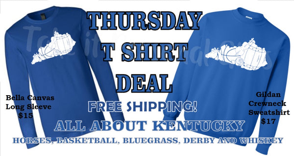All About Kentucky Screen printed T or sweatshirt