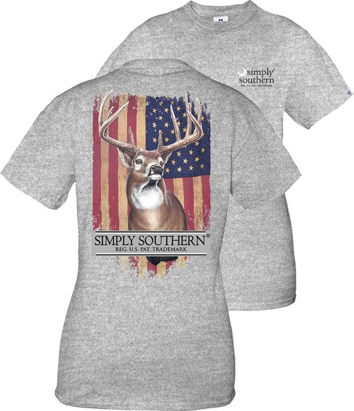 Simply Southern Youth Deer Short Sleeve Tshirt