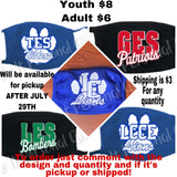 Rep Your School Mask youth or adult
