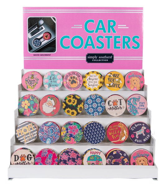 Simply Southern Ceramic Car Coasters